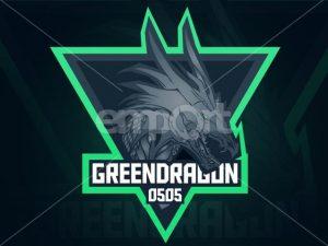 Drachen Logo für Gaming Channel GREENDRAGON 0505